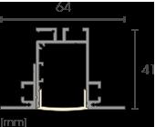 TB1 Deckeneinbauprofil Detailzeichnung