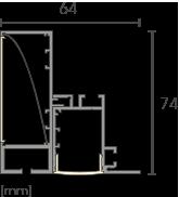 TB2 Wandfluter Profil Detailzeichnung
